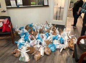 2020 92 lunch sacks filled